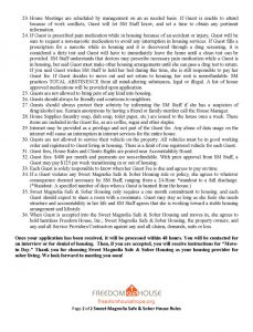 Safe & Sober Housing Rules